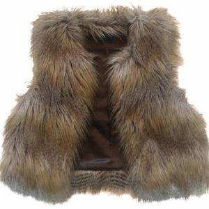 Velvet By Graham & Spencer Faux Fur Vest SZ Small